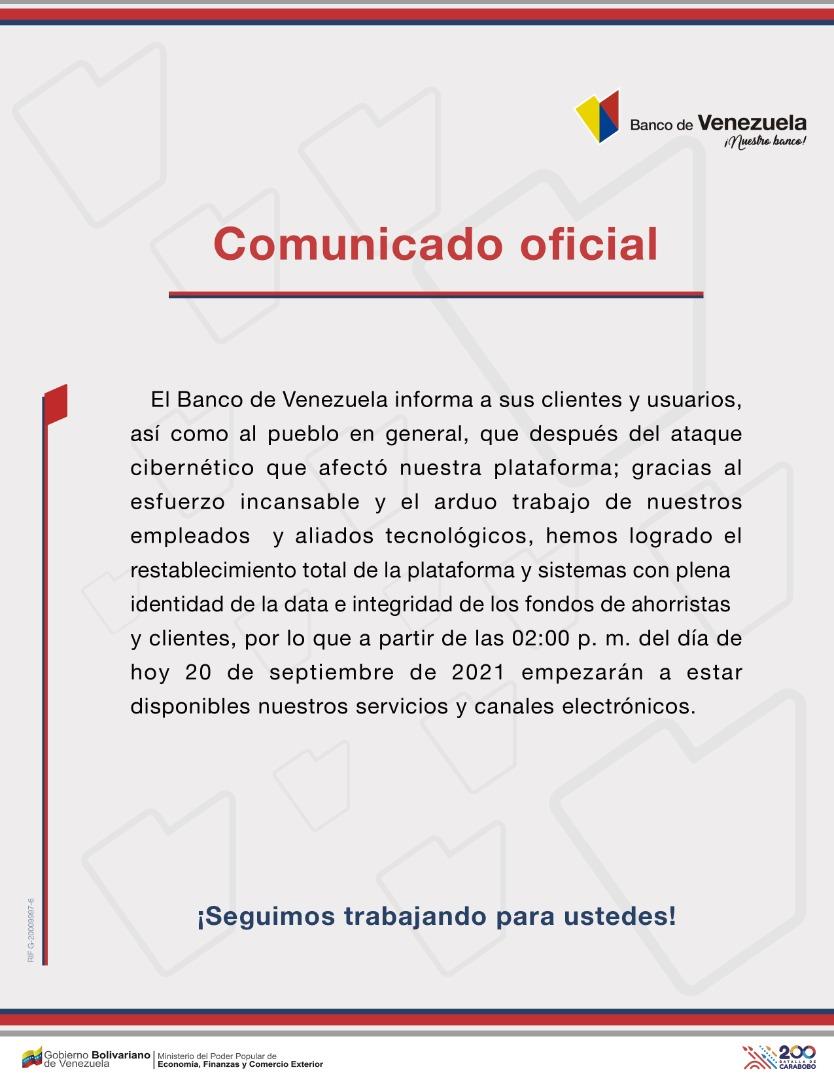 BDV Comunicado